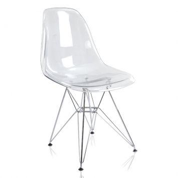 Cadeira eiffel charles eames transparente 231