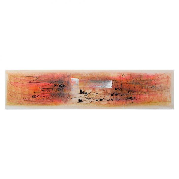 Quadro Artesanal com Textura Abstrato Colorido 30x130 Uniart Cod: 7898247008087