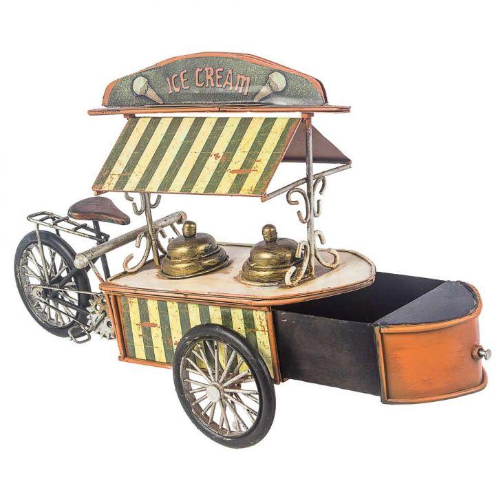 Triciclo Sorvete Amarelo Oldway 22x30x12,5 Cod: OL960AC30EGBMOB