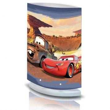Abajur carros oval cupula colorida 110v