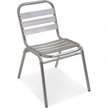 Cadeira aluminio prata