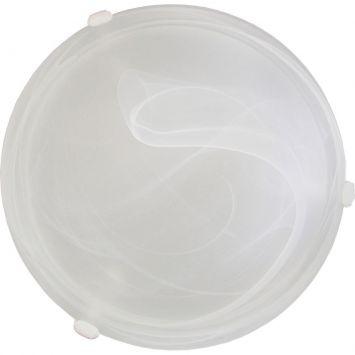 Plafon murano vidro 40cm 3 lampadas e 27 max 60w branco garra branca
