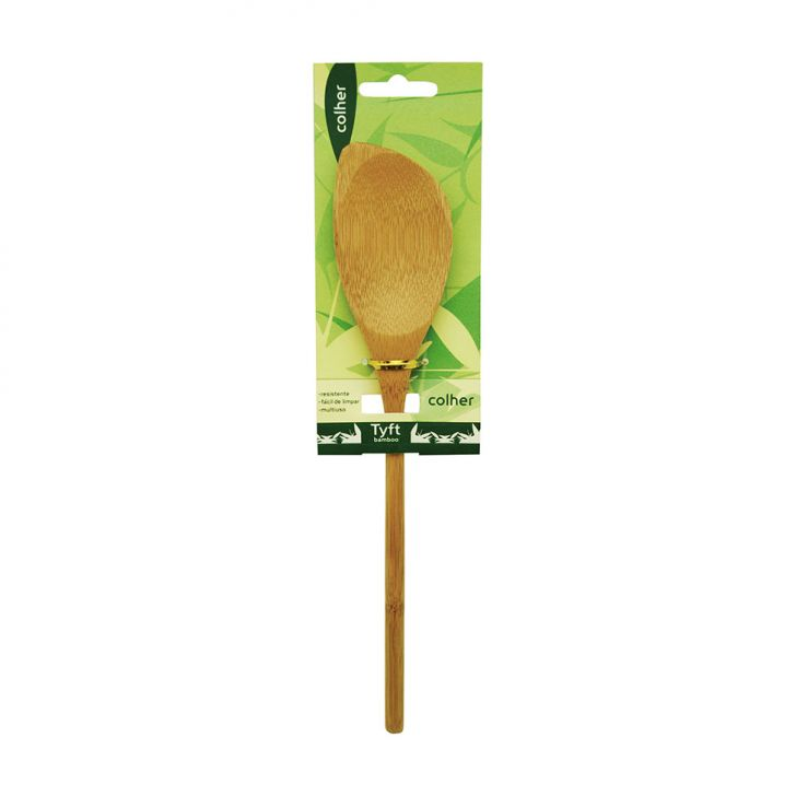 Colher Bambu 30 cm Bege Tyft