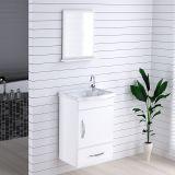 Armário Suspenso para Banheiro com Espelho Kit Verona 39 cm Branco - Rorato