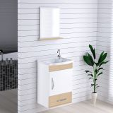 Armário Suspenso para Banheiro com Espelho Kit Verona 39 cm Branco/Aya - Rorato