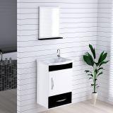 Armário Suspenso para Banheiro com Espelho Kit Verona 39 cm Branco/Preto - Rorato