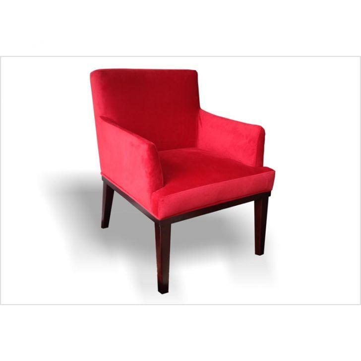 Poltrona para Sala de Estar e Escritório Dilla Suede Vermelho DESCONTO DE R$: 122,00 (22,98% OFF) - OFERTA MOBLY