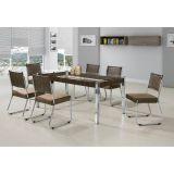 Conjunto Mesa E 6 Cadeiras Nobre Marrom