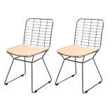 Conjunto 2 Cadeiras Raggio Bertoia About Home - Bege