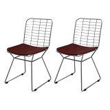 Conjunto 2 Cadeiras Raggio Bertoia About Home - Marrom