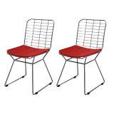 Conjunto 2 Cadeiras Raggio Bertoia About Home - Vermelho