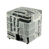 Puff Quadrado Box Jornal Absolut