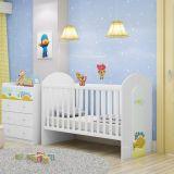 Berço Infantil B401 Reversivel Branco com Azul