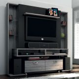 Home Theater Santiago Cinza/Preto