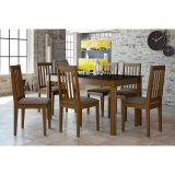 Conjunto de Mesa Com 6 Cadeiras Tâmara Imbuia & Capuccino Alamo