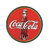 Placa Decorativa Coca Cola Garrafa Redonda