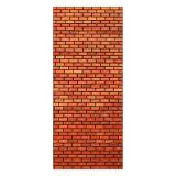 Adesivo Decorativo de Porta - Parede de Tijolos - 060pt-P