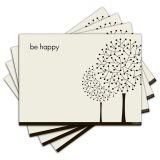 Jogo Americano - Be Happy com 4 peças - 098Jo