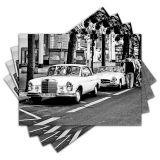 Jogo Americano - Carros Clássicos com 4 peças - 001Jo