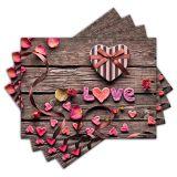Jogo Americano - Love com 4 peças - 020Jo