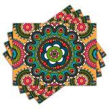Jogo Americano - Mandala com 4 peças - 676Jo
