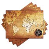 Jogo Americano - Mapa com 4 peças - 027Jo