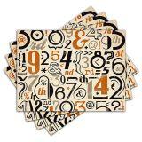 Jogo Americano - Números com 4 peças - 203Jo