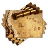 Jogo Americano - Navegação com 4 peças - 018Jo