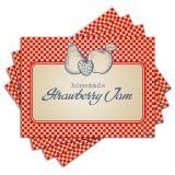Jogo Americano - Strawberry Jam com 4 peças - 124Jo