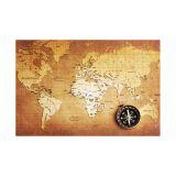 Painel Adesivo de Parede - Mapa Mundi - 088pn-P
