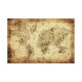 Painel Adesivo de Parede - Mapa Mundi Vintage - 424pn-M