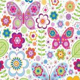 Papel de Parede Adesivo - Borboletas e Flores - 038ppi