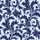 Papel de Parede Adesivo - Folhagem Azul - 018ppn