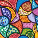 Papel de Parede Adesivo - Multi Colorido  - 005ppd