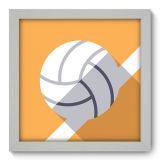 Quadro Decorativo - Voleibol - 032qdeb