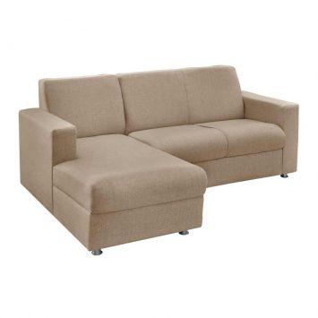 Sofá 3 Lugares com Chaise Esquerda Roma Chenille Bege American Comfort AC 5250 - E / 940