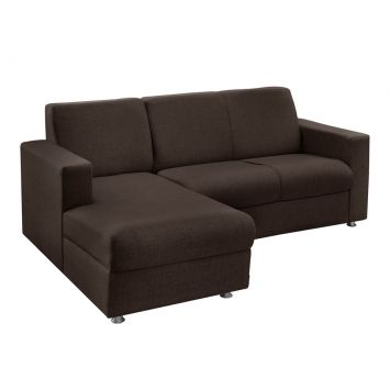 Sofá 3 Lugares com Chaise Esquerda Roma Chenille Marrom American Comfort AC 5250 - E / 938