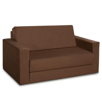 Sofá - Cama Casal Toulouse Suede Marrom American Comfort Toulouse