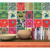 Adesivo de Azulejo Decorative flowers 20x20cm