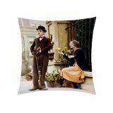 Almofada Impressão Digital 40cm x 40cm Estampa 04 Chaplin 02 Peças - Colorido