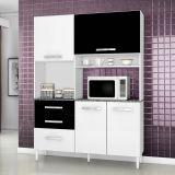Armário de Cozinha Iza 4 Portas 3 Gavetas Branco e Cinza Aramóveis