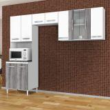 Cozinha Compacta Aramóveis 656 3 Peças Branco & Cinza