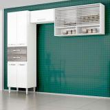 Cozinha Compacta Joyce Branco E Cinza