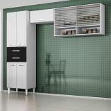 Cozinha Compacta Joyce Branco E Preto