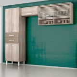 Cozinha Compacta Joyce Teka E Brown