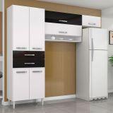 Cozinha Compacta Renata 3 Peças Branco & Preto