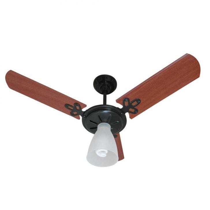 Ventilador de Teto Arlux Gold Preto 220 V 3 Pas Mogno Cv 130 W