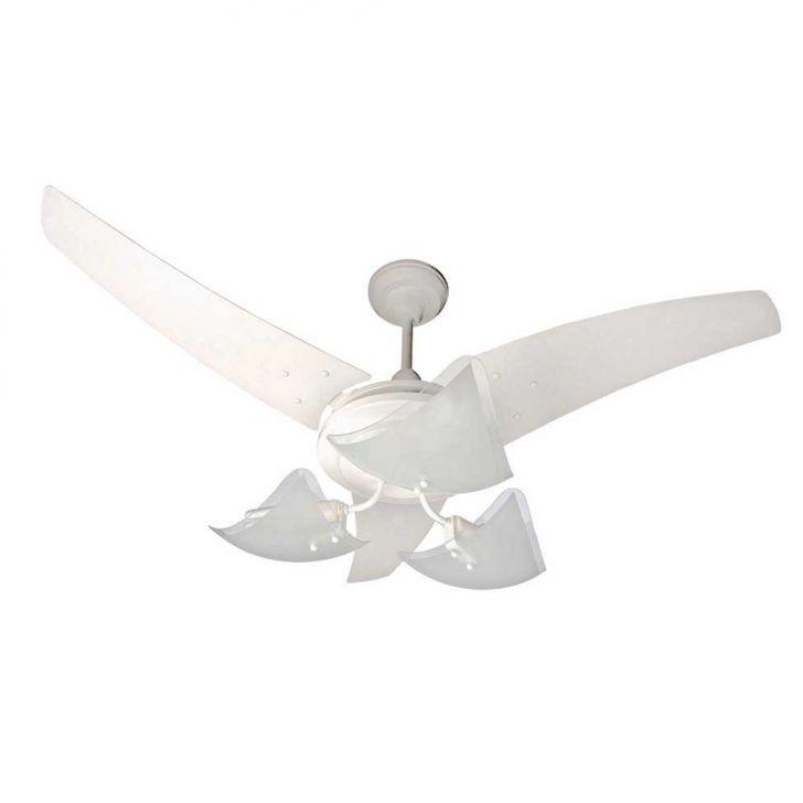 Ventilador de Teto Majestic Lumina Branco 127 V 4 Pas Branca Cv 130 W