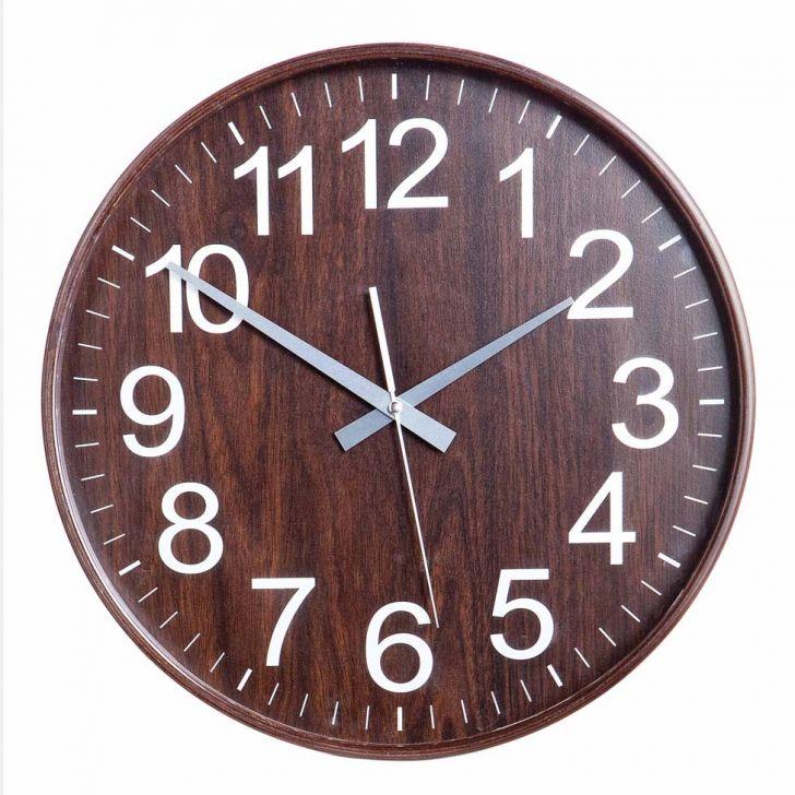Relógio Log 26 Cm Imbuia