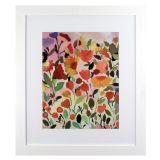 Quadro Flores da Sorte 1 Branco 108 x 92 cm